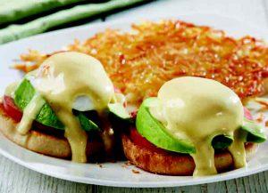 Avocado & Tomato Eggs Benedict Image