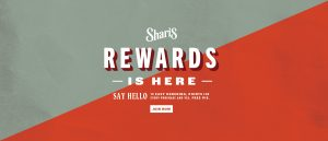 Shari's Rewards is here. Say hello to easy ordering, points for every purchase and yes, free pie.