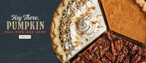 Hey there pumpkin fall pies available now Find a location