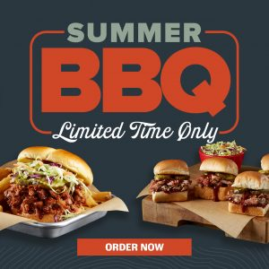 Shari's Barbeque. Your summer bbq headquarters. Limited time only. Order now.